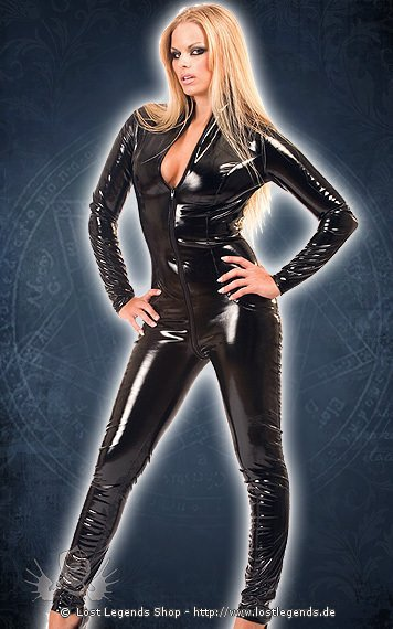 2 Way Zip Catsuit, Lack