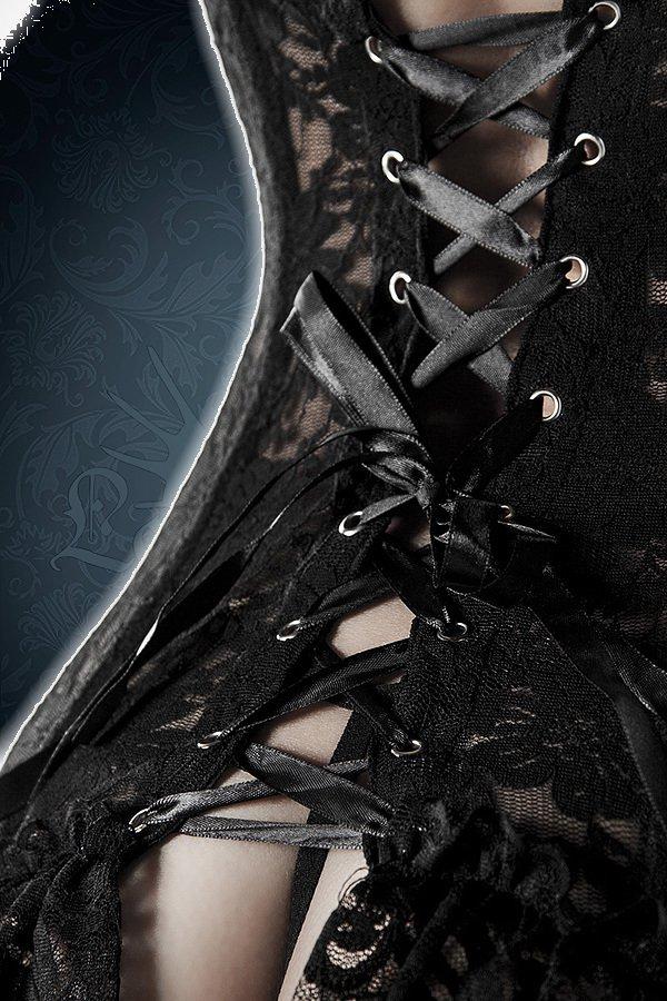 5-teiliges Spitzenwäsche Set schwarz