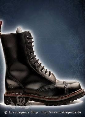 Aderlass 10-Eye-Boot Leather Black