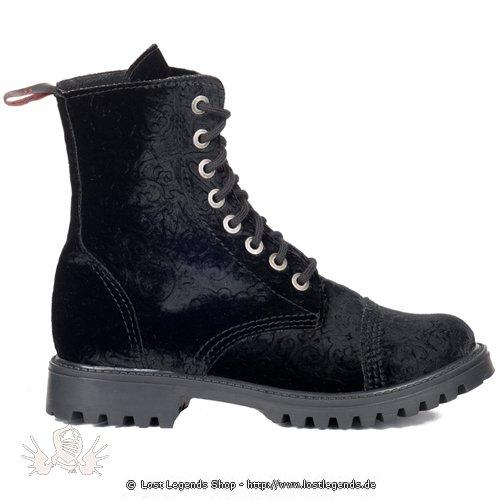Aderlass 8-Eye Boots Paisley Velvet