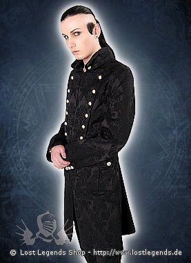 Aderlass Admiral Coat Brocade Black