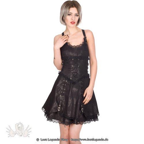 Aderlass Gather Mini Dress Art Denim