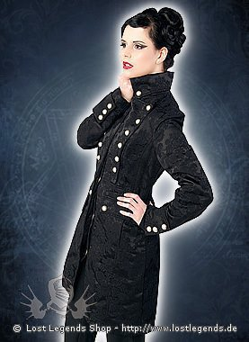 Aderlass Corsair Coat Brocade Black