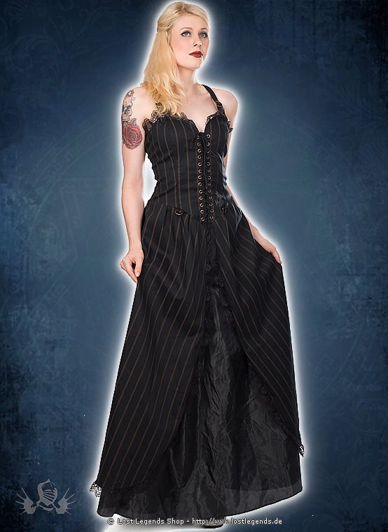 Aderlass Long Dress Steampunk Kleid