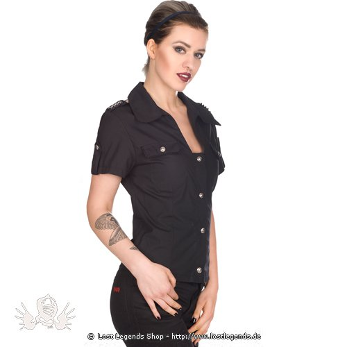 Aderlass Military Blouse Denim schwarz