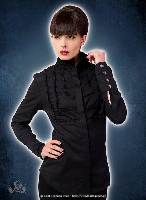 Aderlass Nice Blouse Fine Denim Black