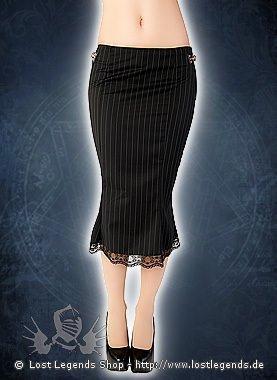 Aderlass Pretty Skirt Pin Stripe Black-White