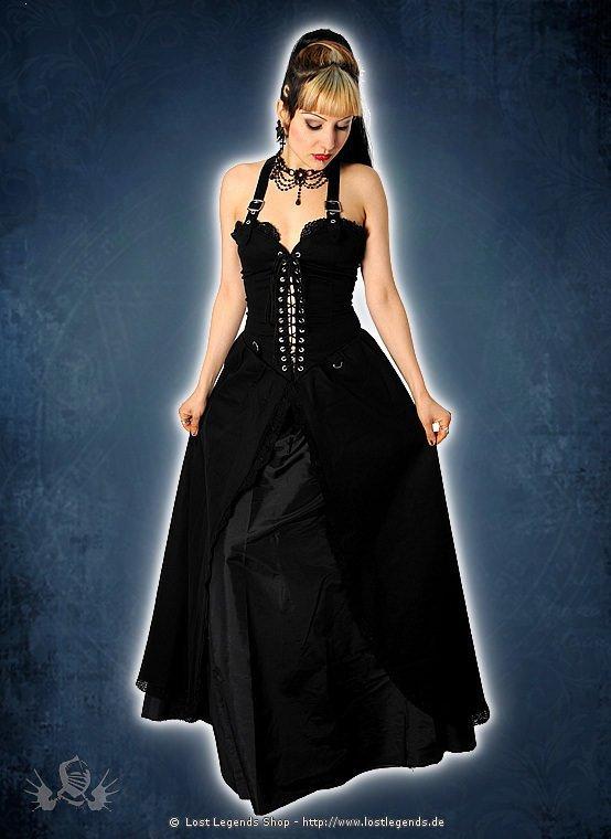Aderlass Punk Long Dress Kleid, Denim