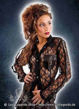 Aderlass Tongue Blouse Lace Steampunk Edition