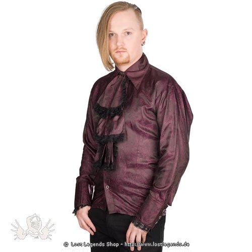 Aderlass Volant Shirt Paisley Satin