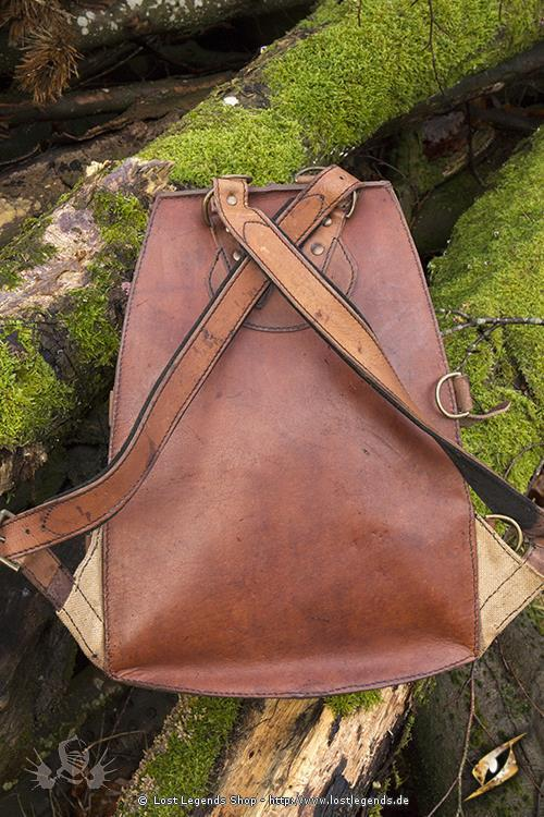 Adventurer LARP Rucksack Leder, braun