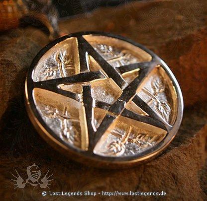 Altarpentakel aus Metall Pentagramm, 8cm