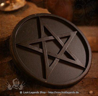 Altarpentakel schwarz