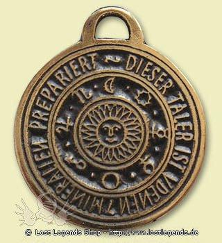 Alte Symbole Astrologisches Amulett