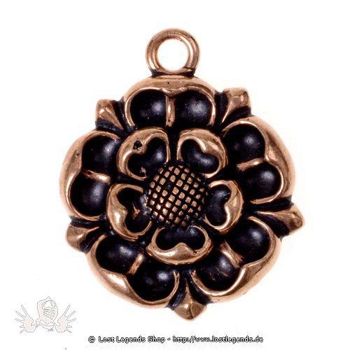 Amulett Tudor-Rose Bronze