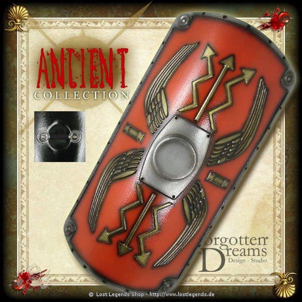 Ancient Römerschild dlx 120x60cm, rot Ancient Collection
