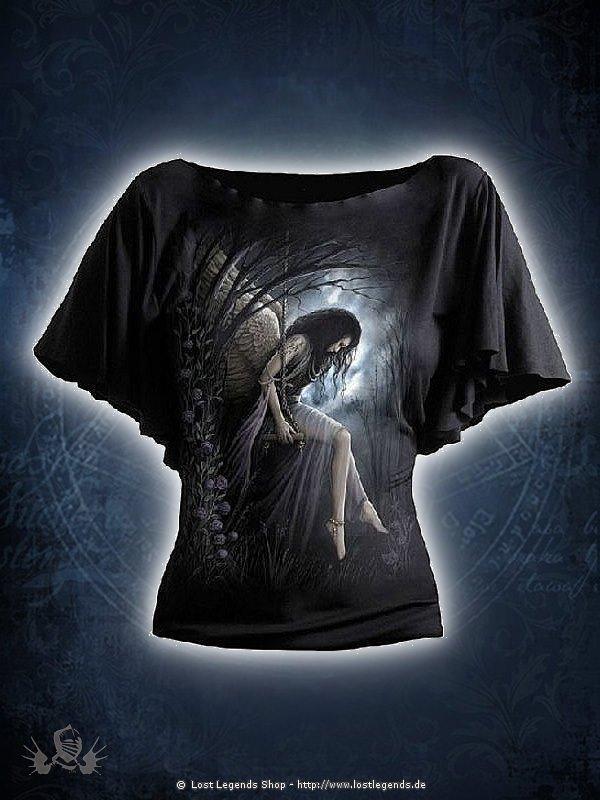 Angel Lament Girlie Latin Shirt schwarz SPIRAL