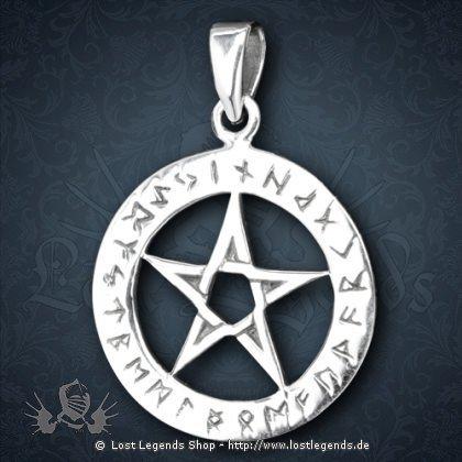 Anhänger kleines Pentagramm Silber