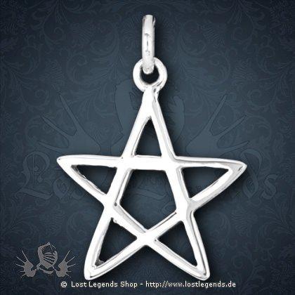 Anhänger Pentagramm Silber