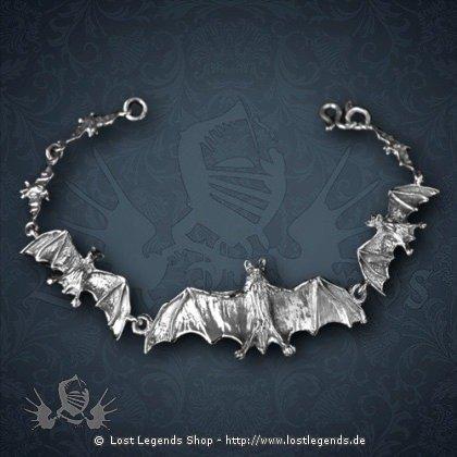 Armband Bangle Bats Silber