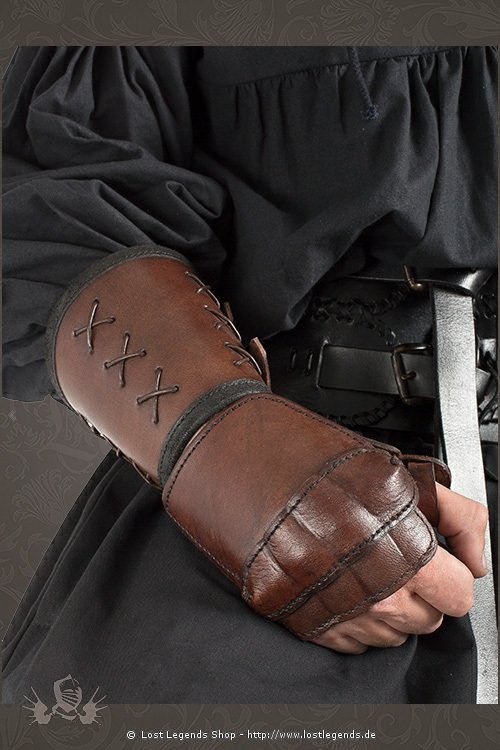 leather gauntlet brown, right hand