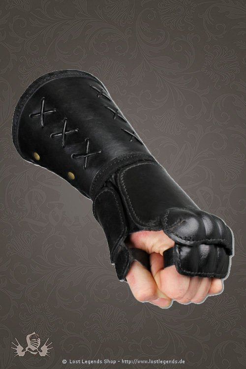Armschienen leather gauntlet schwarz, rechte Hand