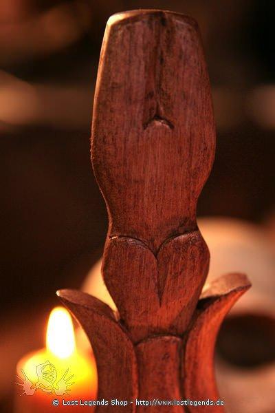 Athame Wooden Goddess