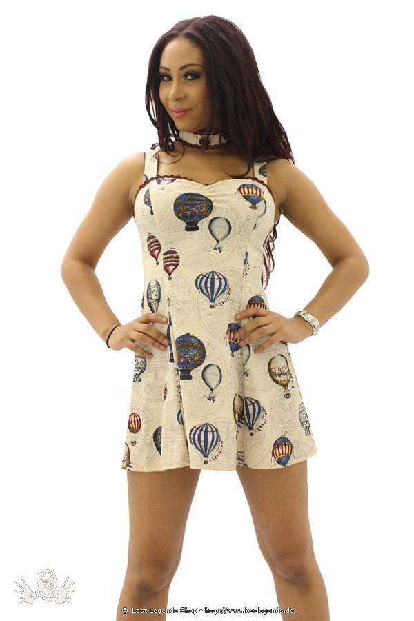 Ballon Print Steampunk Kleid