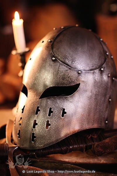 Berserker Helm Epic Dark Metal