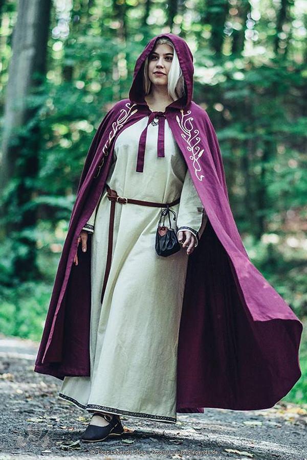 Mittelalterumhang Lyra mit Kapuze
