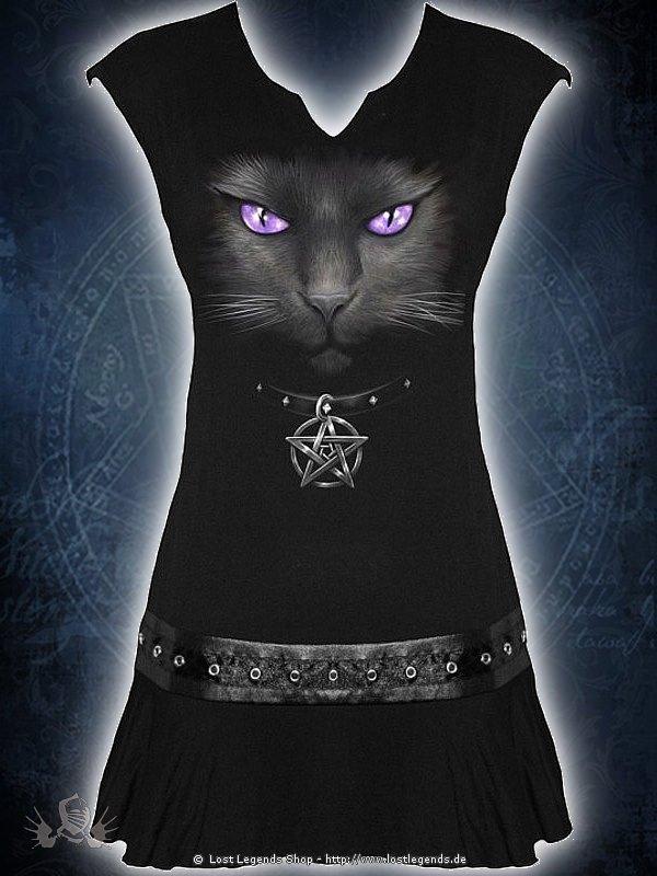 Black Cat Kleid mit Nietenbesatz SPIRAL