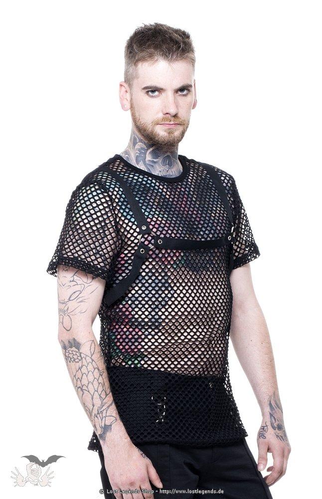 Black Ivy Gothic Netz-Shirt
