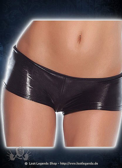 Black Mini Shorts Wetlook