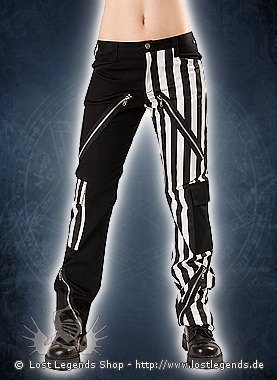 Black Pistol Freak Pants Stripe Black-White