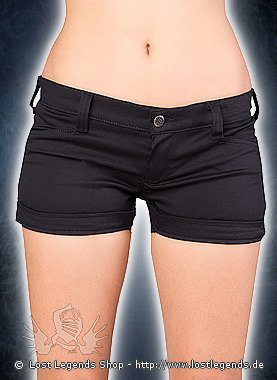 Black Pistol Lapel Panty Denim Black