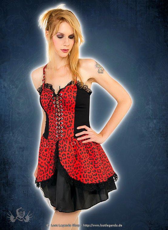 Black Pistol Punk Mini Dress Leo Denim