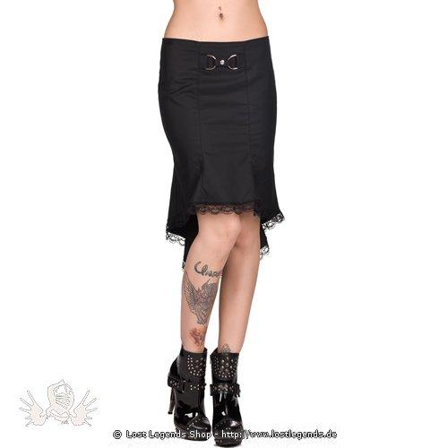 Black Pistol Wave Skirt Denim