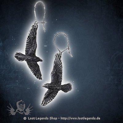 Black Raven Ohrringe