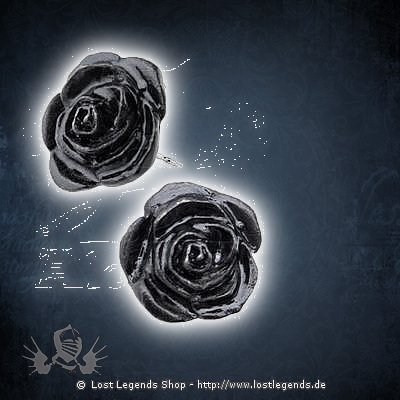 Black Rose Studs Ohrstecker