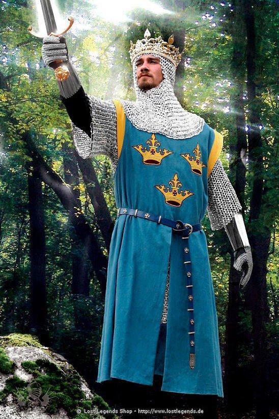 Blauer Wappenrock mit Kronen