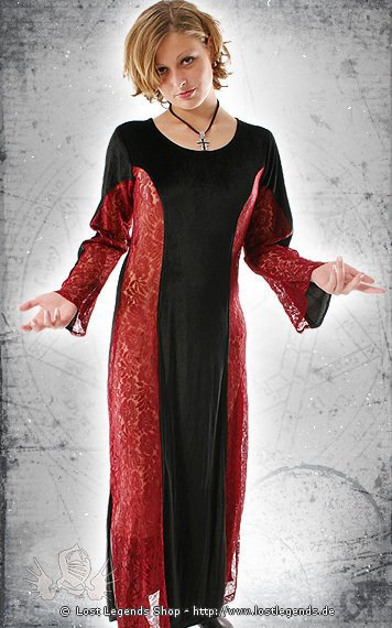 Bloody Rose Gothic-Kleid, Samt