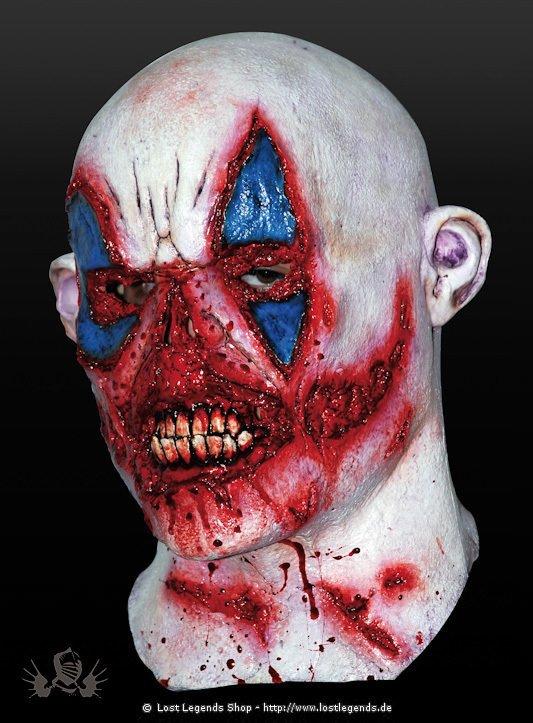 Blutrünstiger Clown Latex Maske