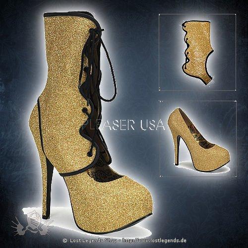 Bordello TEEZE-31G Gold Glitter