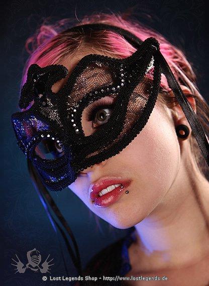 Bovery Mask Maske mit Federn