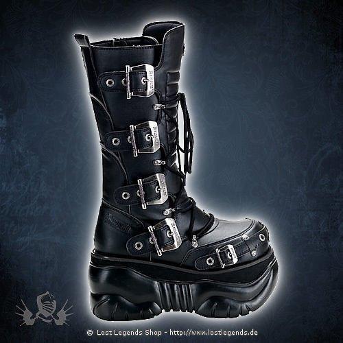 Boxer-205 Black Demonia Gothic Stiefel