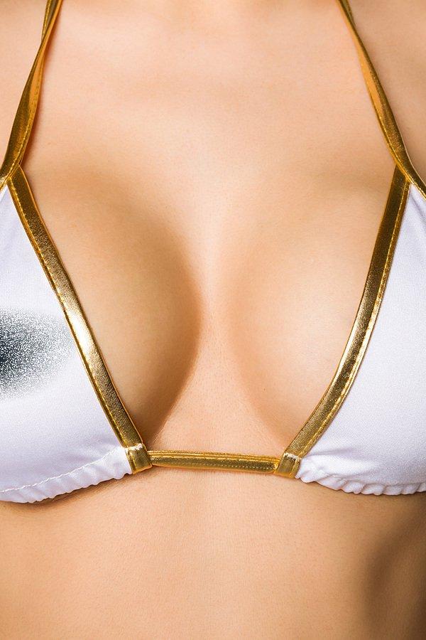 Brasil-Bikini weiß/gold