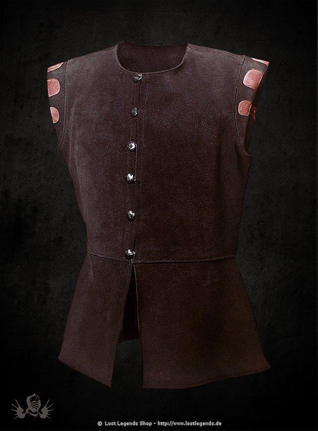 Brauner Wams aus Leder