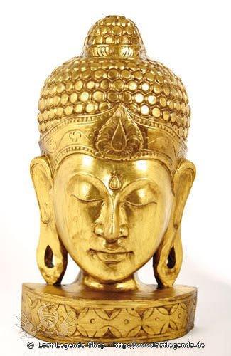Buddhamaske ca. 50 cm goldfarben