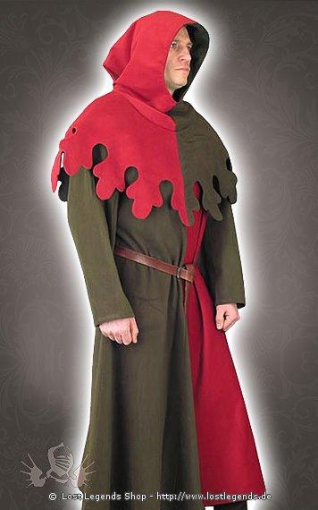 Bürgerliche Mittelalter Kleidung Tunika und Gugel
