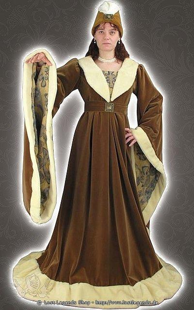 Burgundische Edeldame Mittelalterkleid